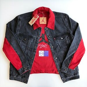 Jordan X Levis Levi S Reversible Denim Jacket Black Red White Nike