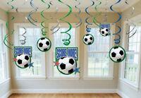 Soccer (futbol) Hanging Dangling Swirl Decoration Set (12 Piece) - 674467