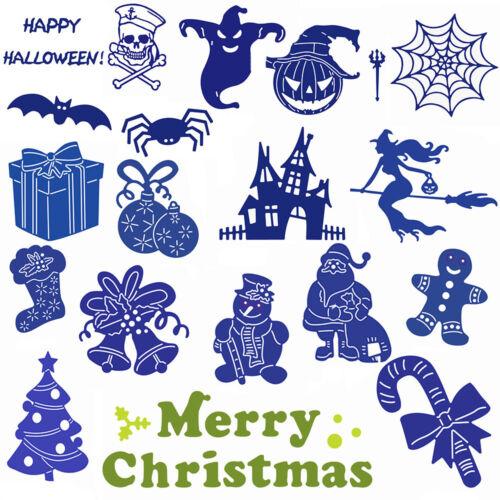 Christmas Halloween Cutting Dies Stencil DIY Scrapbooking Decor Embossing Cards