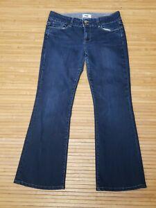 Paige-Hidden-Hills-Dark-Denim-Stretch-Jeans-Womens-Size-31x30-EUC
