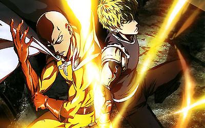 Poster A3 One Punch Man Saitama Manga Anime Cartel Decor Impresion 01