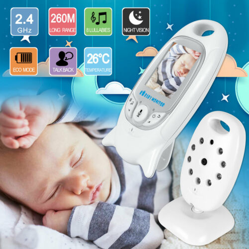New Baby Monitor 2.4GHz Color LCD Wireless Audio Talk Night Vision Digital Video