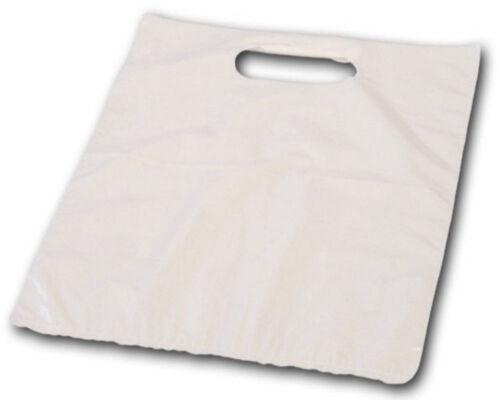 Extra stabil,Shopper Tüte Beutel DKT Tragetaschen Plastiktüten 38x45+5cm weiß