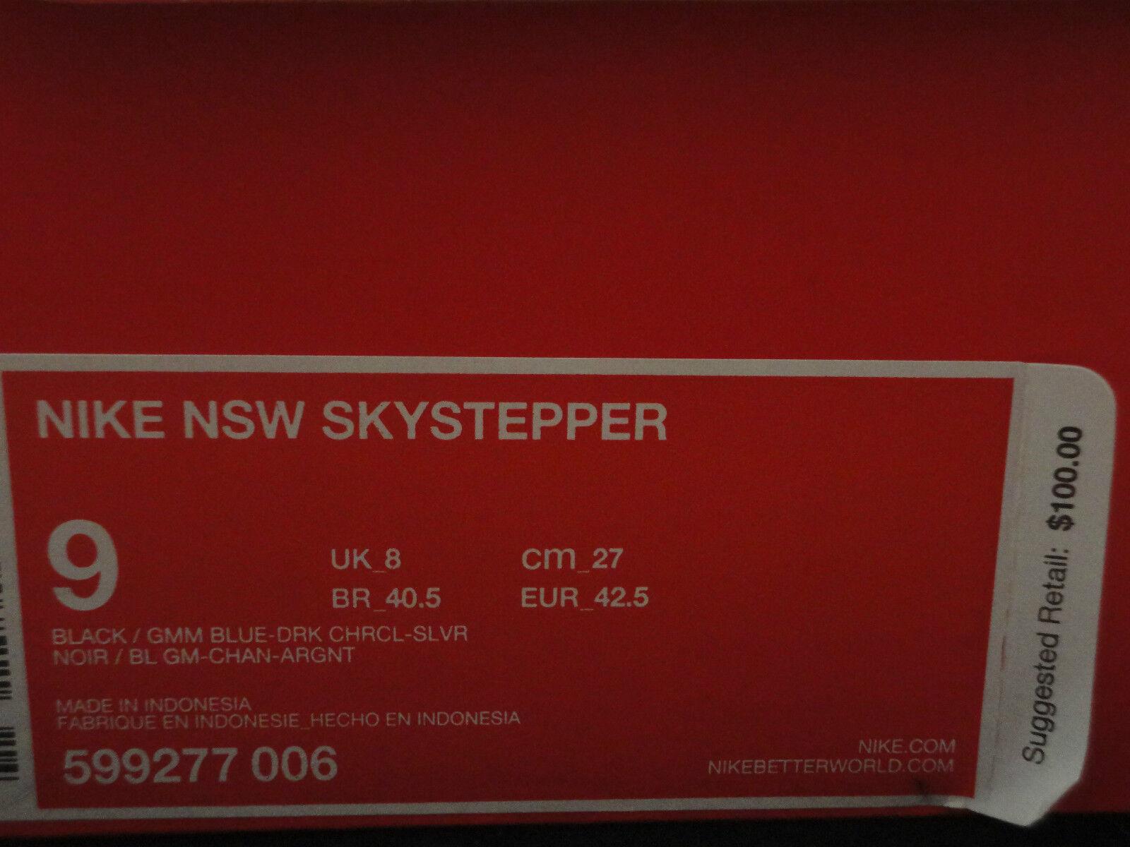 nike nsw yeezy skystepper, schwarz - blau, galaxy yeezy nsw design, größe 9. ab72f7