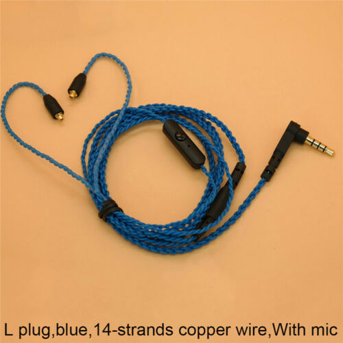 3.5mm Headphone Earphone DIY Braided Cable MMCX Plug Updated Replacement WiF PL