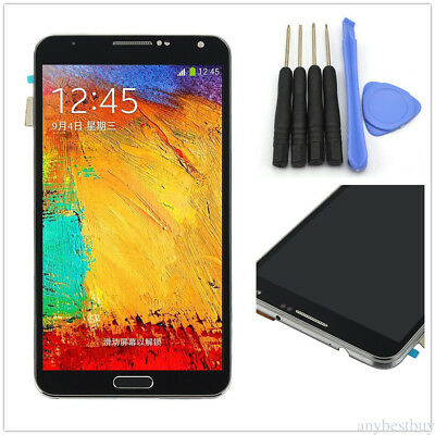 Full LCD Touch Screen Digitizer Frame For Samsung Galaxy Note3 N900A N900T Negro