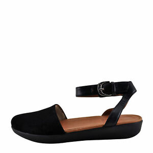 890254cca Image is loading Fitflop-Cova-Black-Women-039-s-Closed-Toe-