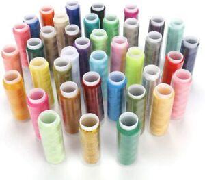 39PCS Bobines de Fils en Polyester pour Couture Manuelle à Coudre Multicolore