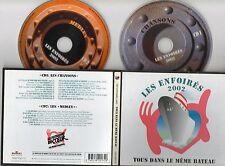 DOUBLE  CD 25T LES ENFOIRES  TOUS DANS LE MEME BATEAU DE 2002    TRES BON ETAT