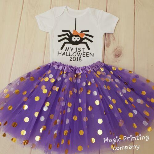 Baby Girls 1st Halloween Araignée Costume Tutu Tenue Cadeau Gâteau Smash Body Top