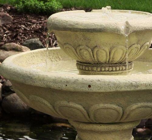 Extérieur Jardin Ronde Baignoire oiseaux d/'eau Fontaine d/'énergie solaire F2