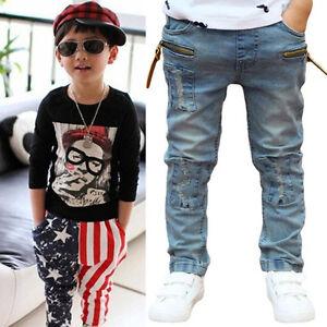 Kids-Boys-Toddler-Stars-Casual-Harem-Pants-Stretch-Denim-Jeans-Trousers-3-11Y-UK