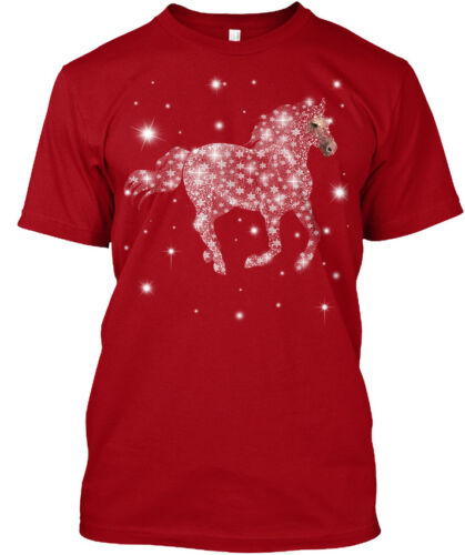 Snow...new Hanes Tagless Tee T-Shirt Horse
