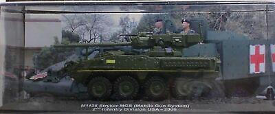 "DIE CAST TANK /"" M1128 STRYKER MGS 2nd INFANTRY USA 2006 /"" BLINDATI 024 1//72"