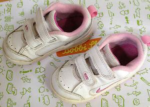 Details zu Baby Schuhe Mädchen Nike Leder Gr. 22,5 weiß