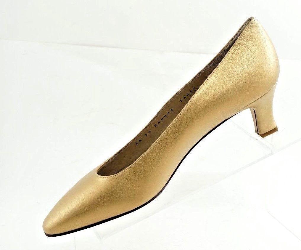 Bruno Magli Gold Heels Classic Pumps Heels Gold  Größe 7.5 AA dab0aa