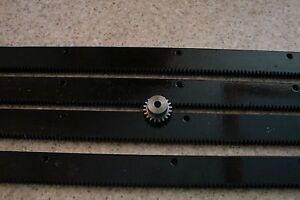 CNC-Stepper-motor-mech-Rack-amp-Gear-96-034-Rack-4x24-034-pcs-amp-a-20T-1-4-034-pinion-gear