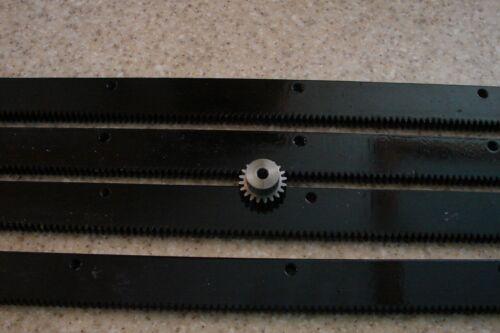 """/& a 20T 1//4/"""" pinion gear CNC Stepper motor mech Rack /& Gear 96/"""" Rack 4x24/""""pcs"""