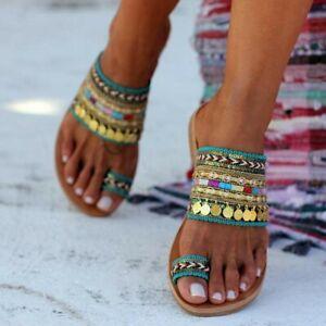 Women-Artisanal-Sandals-Flip-Flops-Handmade-Greek-Style-Boho-Beach-Sandals-Size