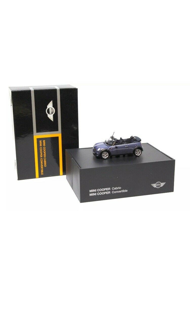 RARE BMW Mini 1.6 R52 Cooper Cabrio Cool bleu 1 43 Minichamps (concessionnaire modèle)