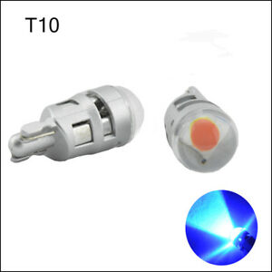10X T10 W5W 501 194 3030 SMD Blue LED Side Interior Number Plate Light Bulb 12V