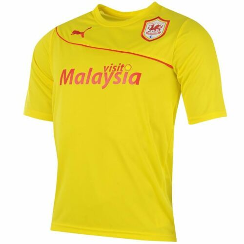 Size S M Genuine Puma Men/'s Cardiff City Away Shirt 2013-2014