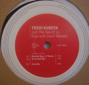 Details about TOSHI KUBOTA CARON WHEELER Just The Two Of Us 12