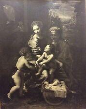 Photographie XIX Adolphe Braun inaltérable au charbon Sainte famille à la perle