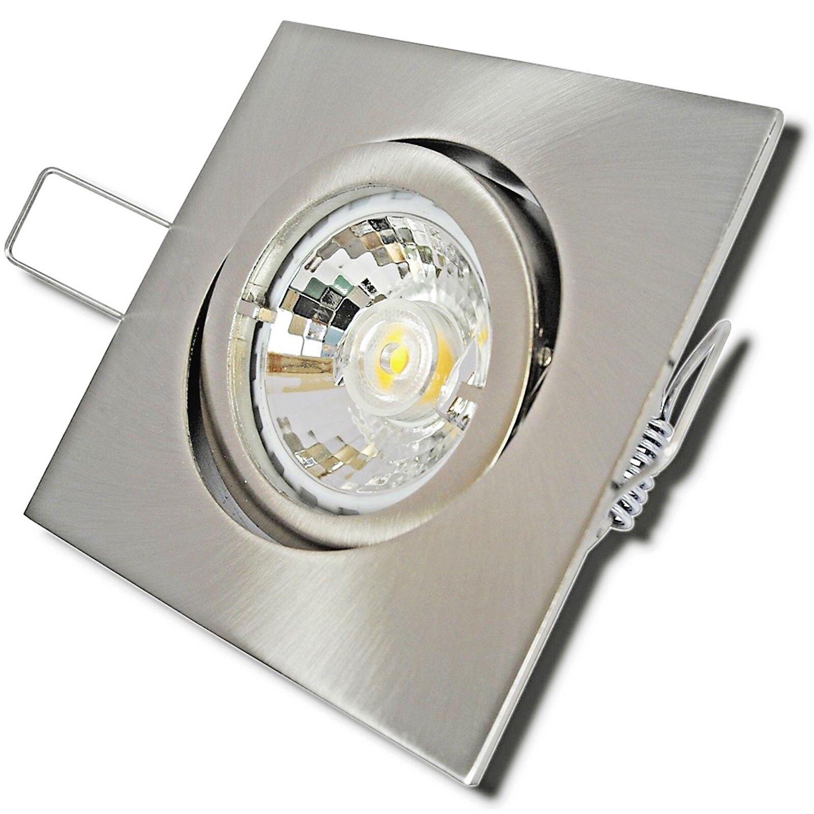 Sets Einbauspots LED Dimmbar 230V Einbauleuchten 7W=52W Kein LEDTrafo nötig Gu10