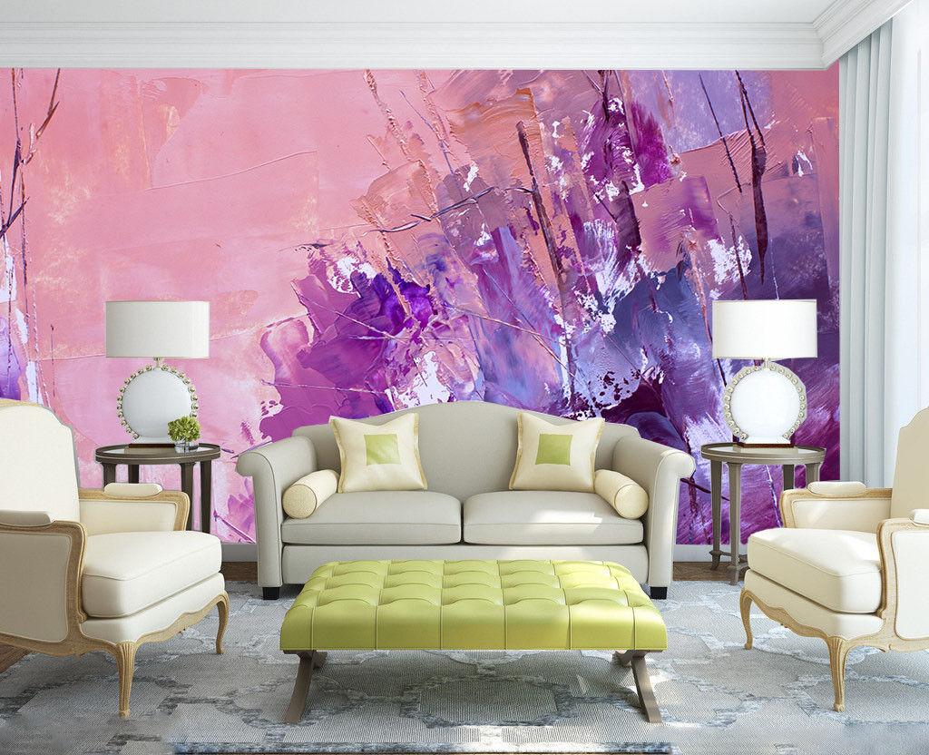 3D lila Pigments 723 Wallpaper Mural Paper Wall Print Wallpaper Murals UK