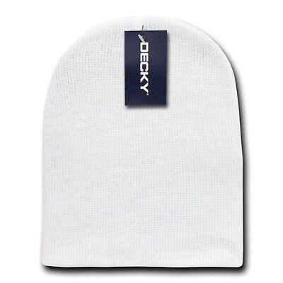 Heather Gray Beanie Hat Skull Snowboard Winter Warm Knit Hats Cuffless Beanies