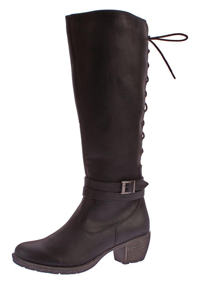 Stivali women Similcuoio Tronchetti shoes Stivali Alti Lacci 36-41