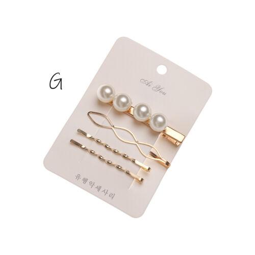 Accessories Pearl Hairgrips Hair Clips Geometric Irregular Hairpins  Barrettes