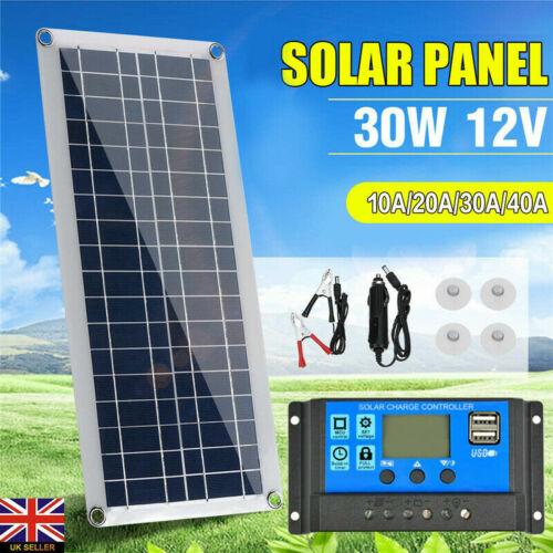 30W 12V Dual USB Flexibles Solarpanel Ladegerät Kit Auto Boot D5E0