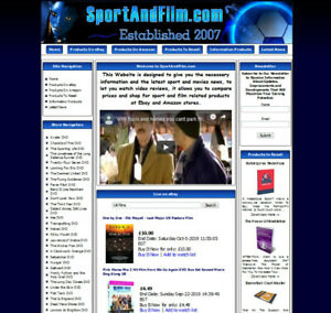 SportAndFilm.com Aged Domain Name. Business Store Website.  12 Months Free Host.