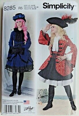 SIMPLICITY PATTERN 8285 COSPLAY PIRATE COSTUME MISSES ...