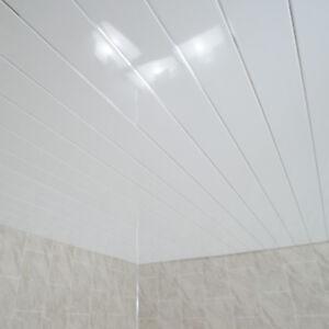 gloss white chrome ceiling pvc panels bathroom cladding