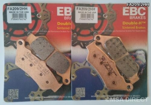 BMW F800GS 2008 to 2018 FA209//2HH x 2 EBC Double-H Sintered FRONT Brake Pads