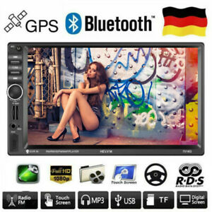 doppel din autoradio mit navigation navi gps bt usb aux r ckfahrkamera touch mp3 ebay. Black Bedroom Furniture Sets. Home Design Ideas