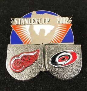NHL-2002-Stanley-Cup-Detroit-Red-Wings-Metal-Pin-Hurricanes