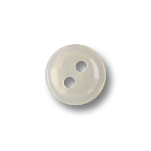 10 jolie petite nacre blanc iridescents deux trous en plastique Boutons 4335we
