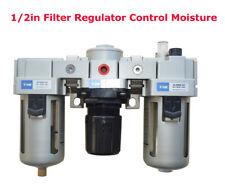New 12 Air Compressor Filter Regulator Control Moisture Trap Oil Lubricator