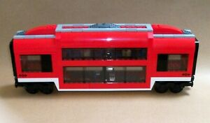 LEGO-Train-Transport-custom-Club-Voiture-Double-Pont-Passager-Sleeper-pour-set-7938
