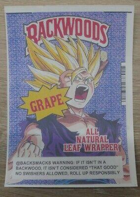 Backwoods cigars Sweet Aromatic Goku Dragon Ball   Vinyl Decal Sticker XL