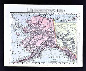 1908-Rand-McNally-Map-Alaska-Sitka-Juneau-Nome-Klondike-Dawson-Yukon-Canada