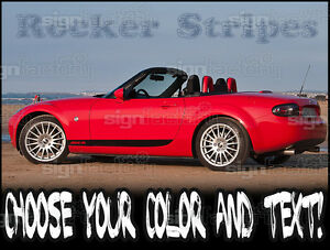 Details about 2006 - 2014 Mazda Miata MX5 Custom Rocker Racing Stripes  Graphics