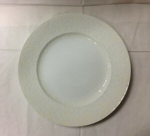 Image is loading EASTERLING-034-DOUBLE-DAMASK-034-DINNER-PLATE-10- & EASTERLING \
