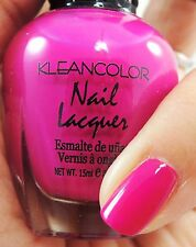 1PC Kleancolor Pretty Hot Pink Nail Polish #321 Cherry & Cream -Cherry Scented!