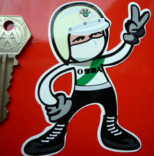 OSSA Pudding Basin Helmet Rider 2 fingered salute STICKER MAR Enduro Trials etc