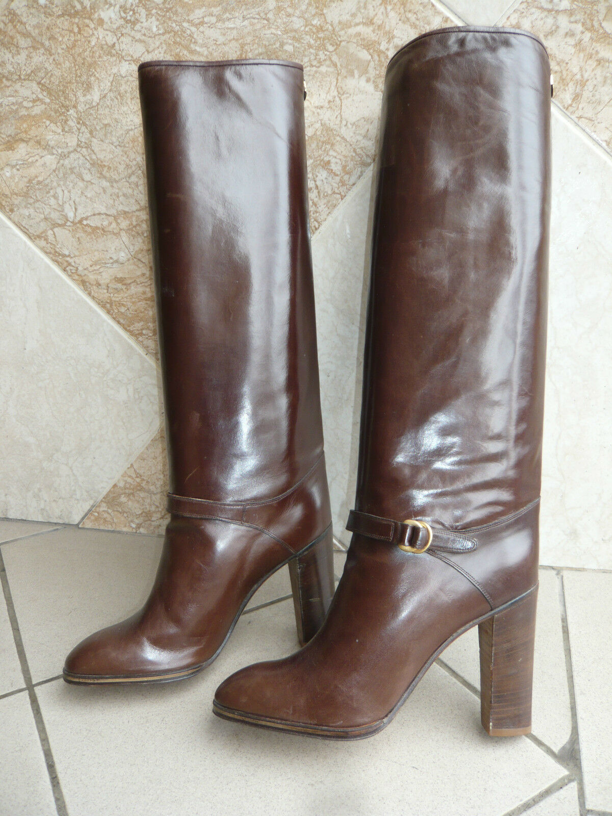 Boots Vintage 1983  Dark brown  - POLLINI  T.37